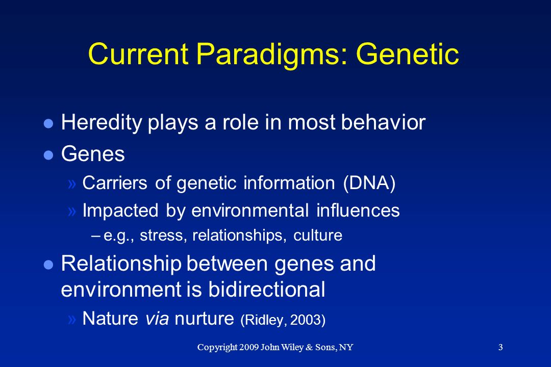 Behaviour genetics