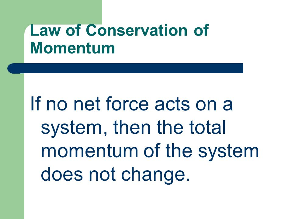 an introduction to the concept of law of conservation of momentum in collisions