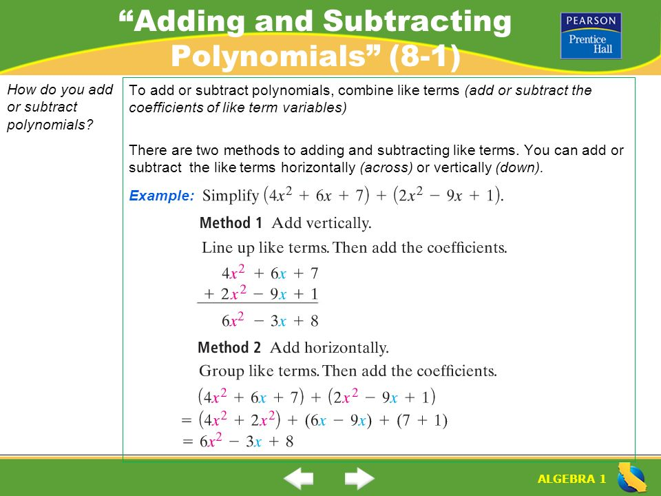 adding and subtracting like terms pdf