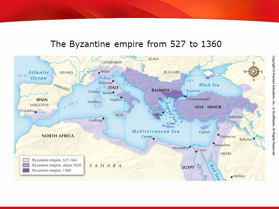 The Byzantine empire from 527 to 1360