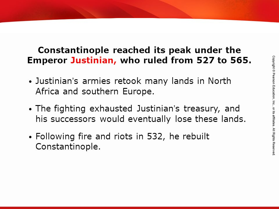 Following fire and riots in 532, he rebuilt Constantinople.