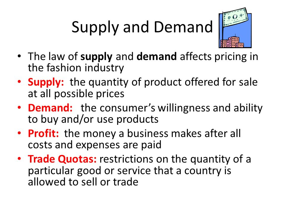 How supply and demand affects the economic aspects of a business