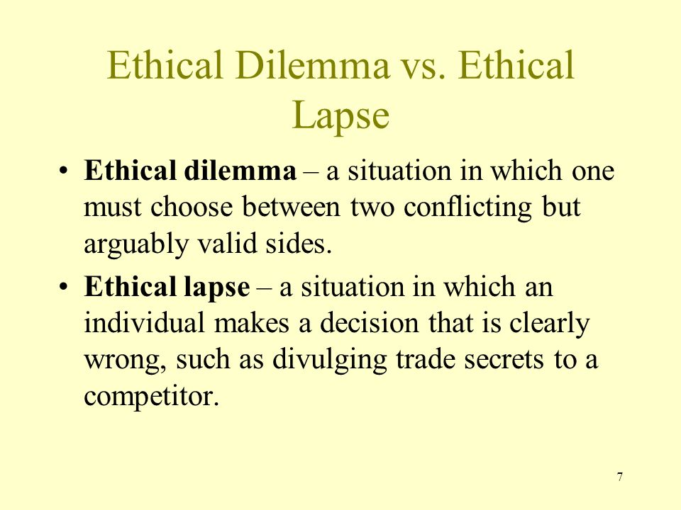 ethical dilemma and ethical lapse The society of professional journalists is the nation's most broad-based journalism organization  an examination of ethical lapses of the past year.