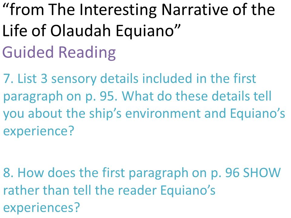 an in depth examination of the life and identity of olaudah equiano The interesting narrative of the life of olaudah equiano i of the life of olaudah equiano and identity of an educated onetime slave is exam.