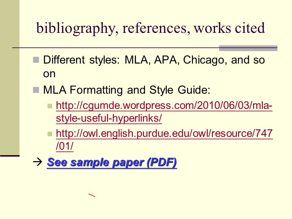 essay bibliography or references