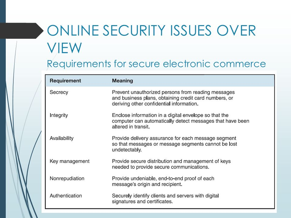 e commerce website security issues One e-commerce expert recommends designing the checkout process so that after a consumer presses the buy button, the back button on the web browser no longer responds.