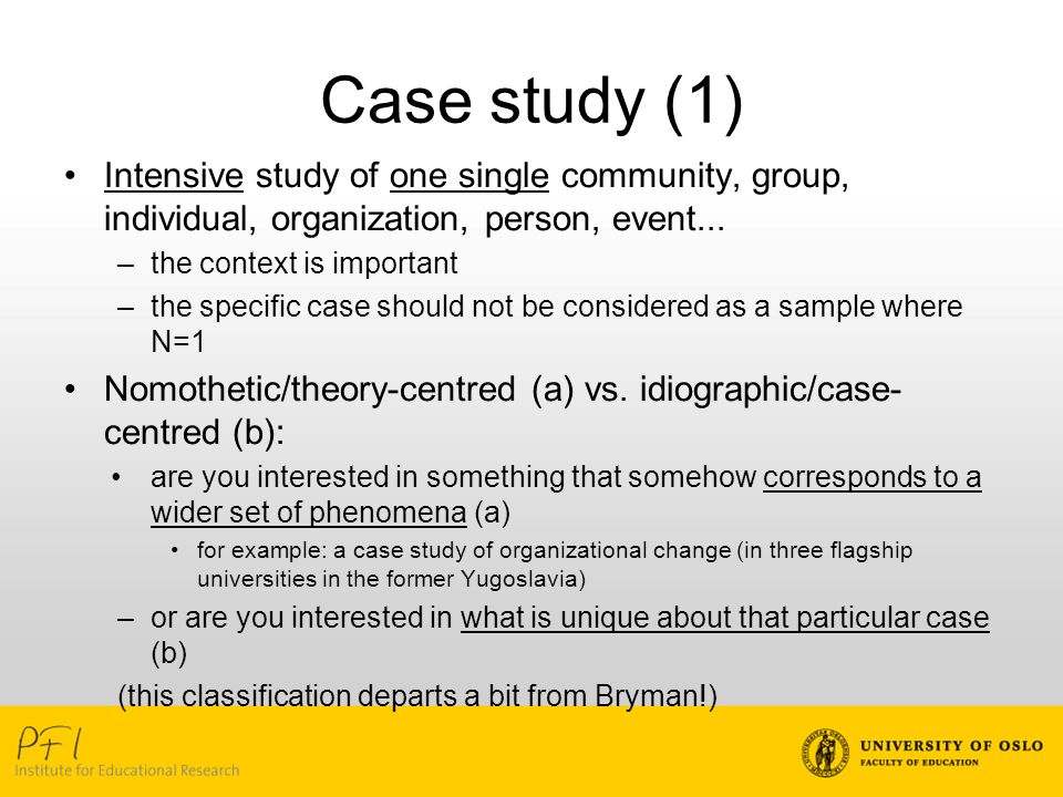 advantages of case study in education