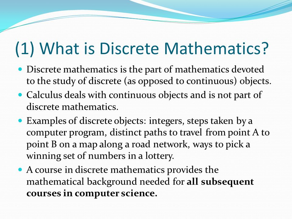 discrete math problems It's often said that mathematics is useful in solving a very wide variety of practical  problems {mathily, mathily-er} focus on discrete mathematics, which, broadly.