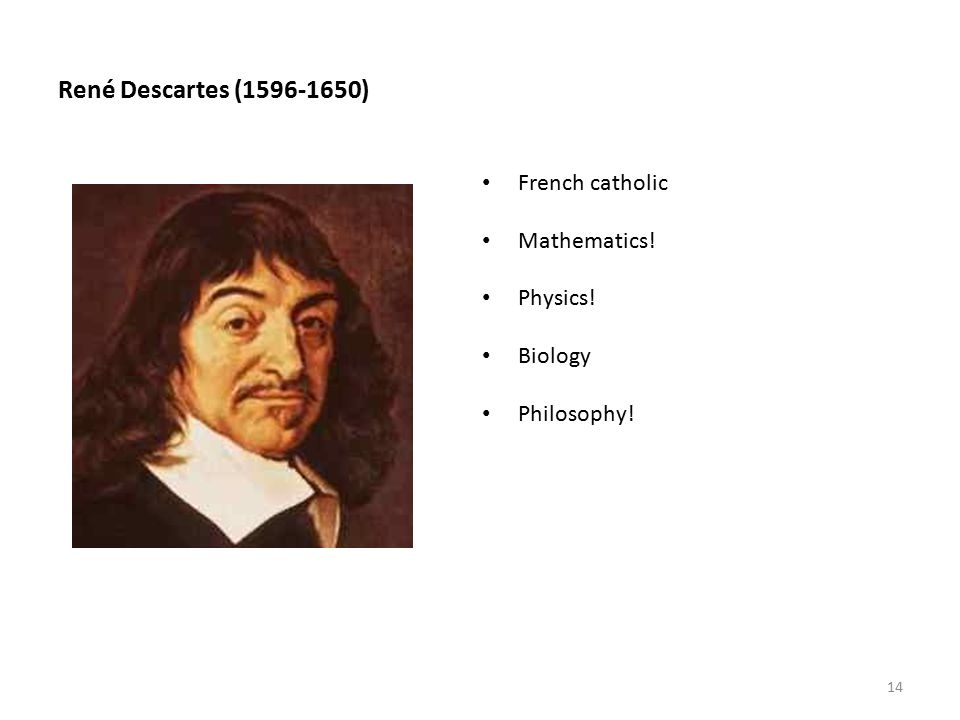 an analysis and an introduction to the philosophy of ren descartes In this lecture/discussion video from my spring 2013 introduction to philosophy class at marist college, we start our study of descartes' discourse on method, looking at the first three parts of.