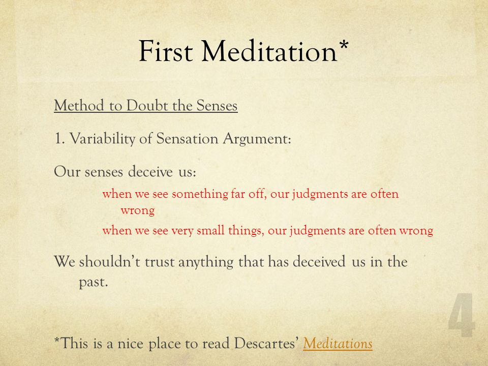 meditation 1 from descartes