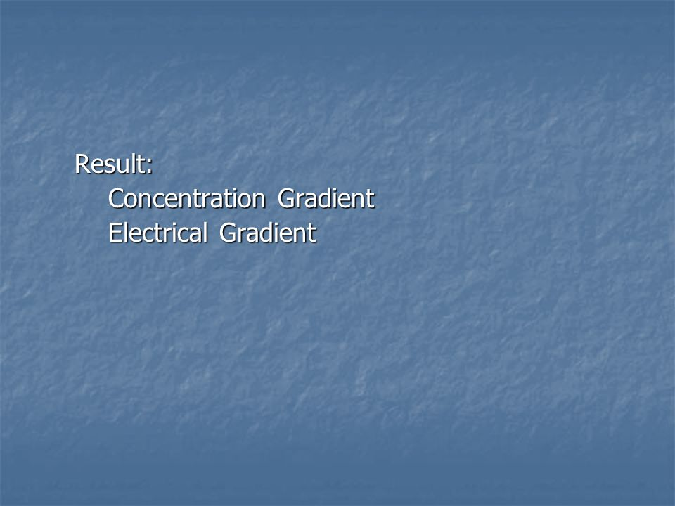 Concentration Gradient Electrical Gradient