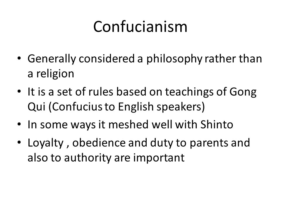 confucianism religion philosophy essay Like all religious philosophies, confucianism, daoism and buddhism address   attending class sessions, completing course assignments, writing papers or.