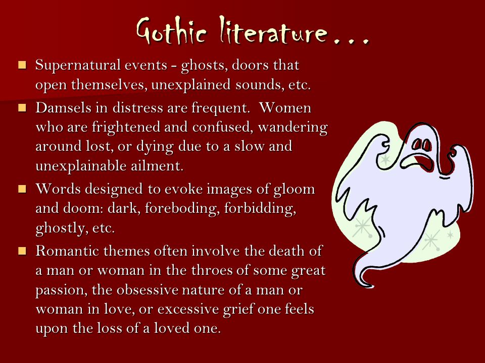 'in gothic texts women are either Robert miles, for example, defines male and female gothics by their  thousands of gothic texts  even death, which could reasonably appear in either.