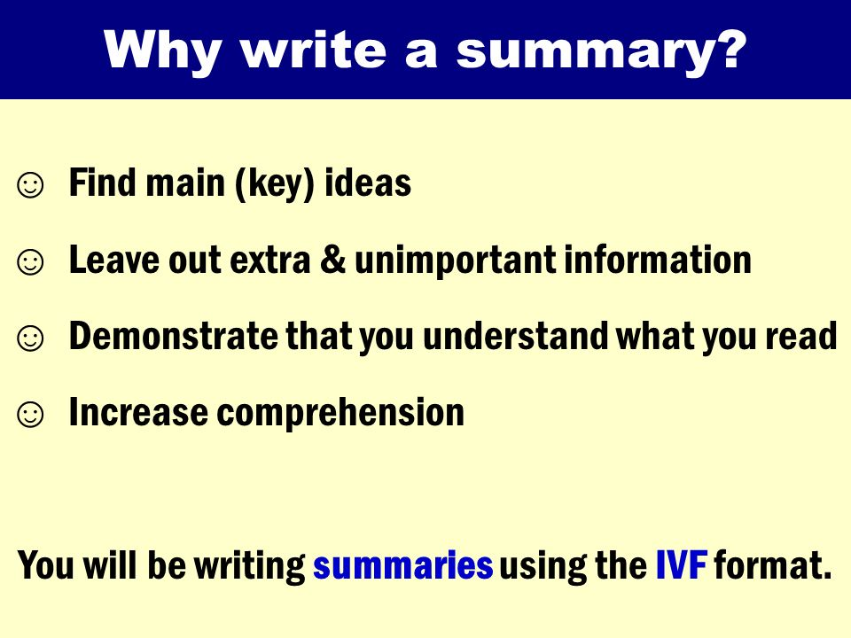 summary writing online A summary, also know as an abstract, precis, or synopsis, is a shortened version of a text that highlights its key points the word summary comes from the latin, sum.