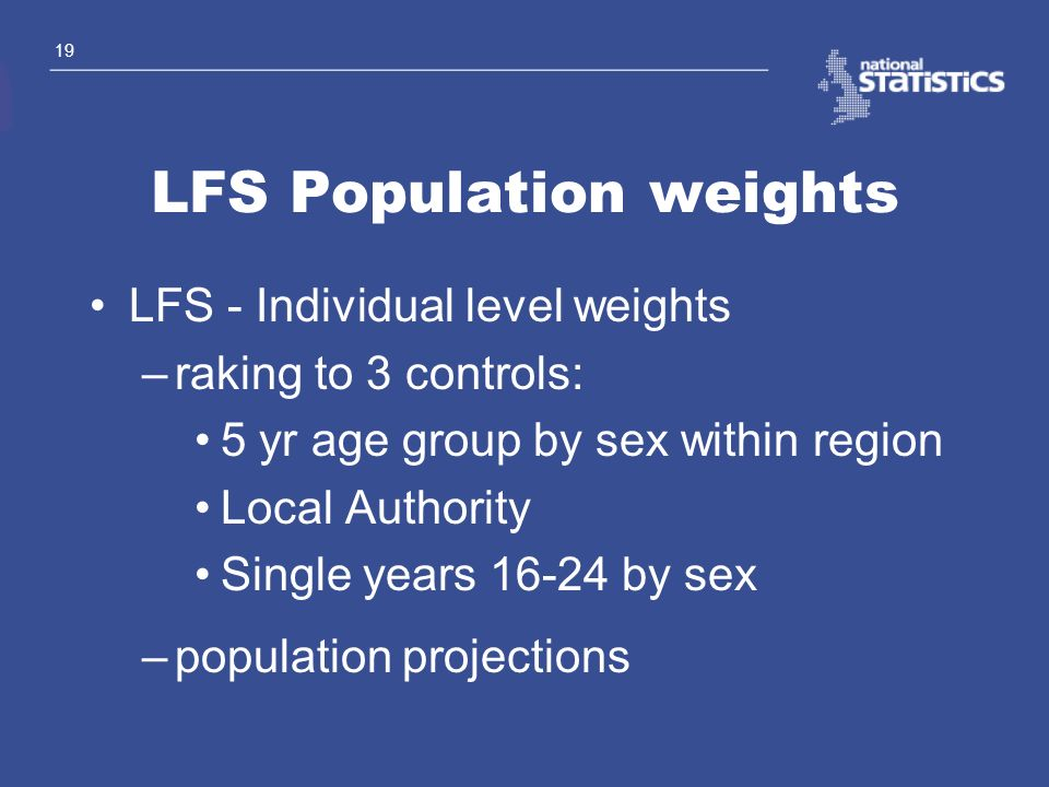 LFS Population weights
