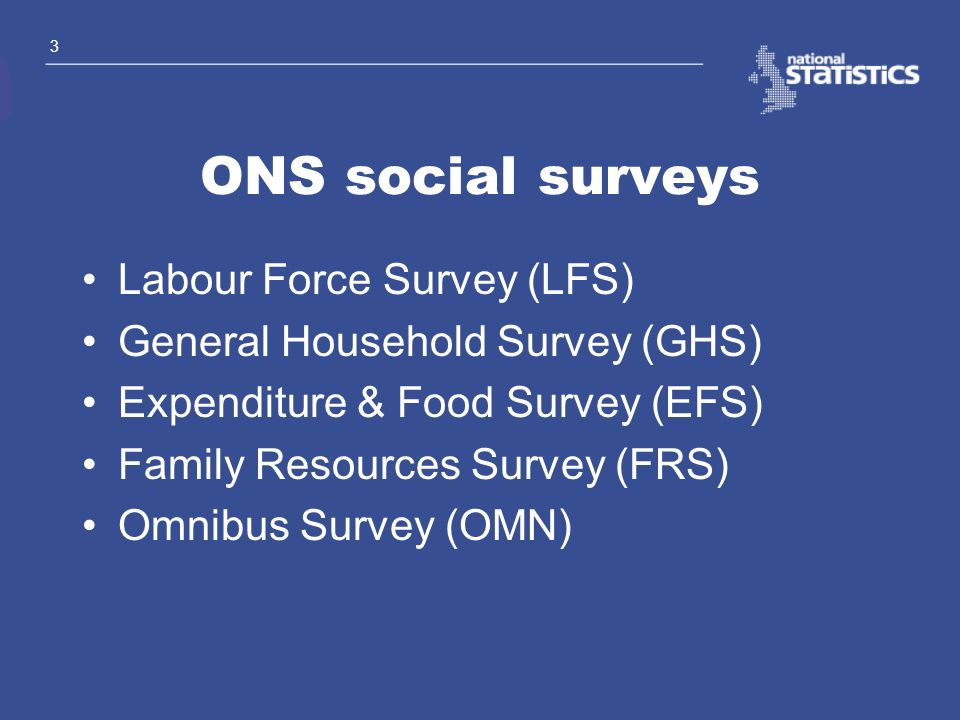 ONS social surveys Labour Force Survey (LFS)