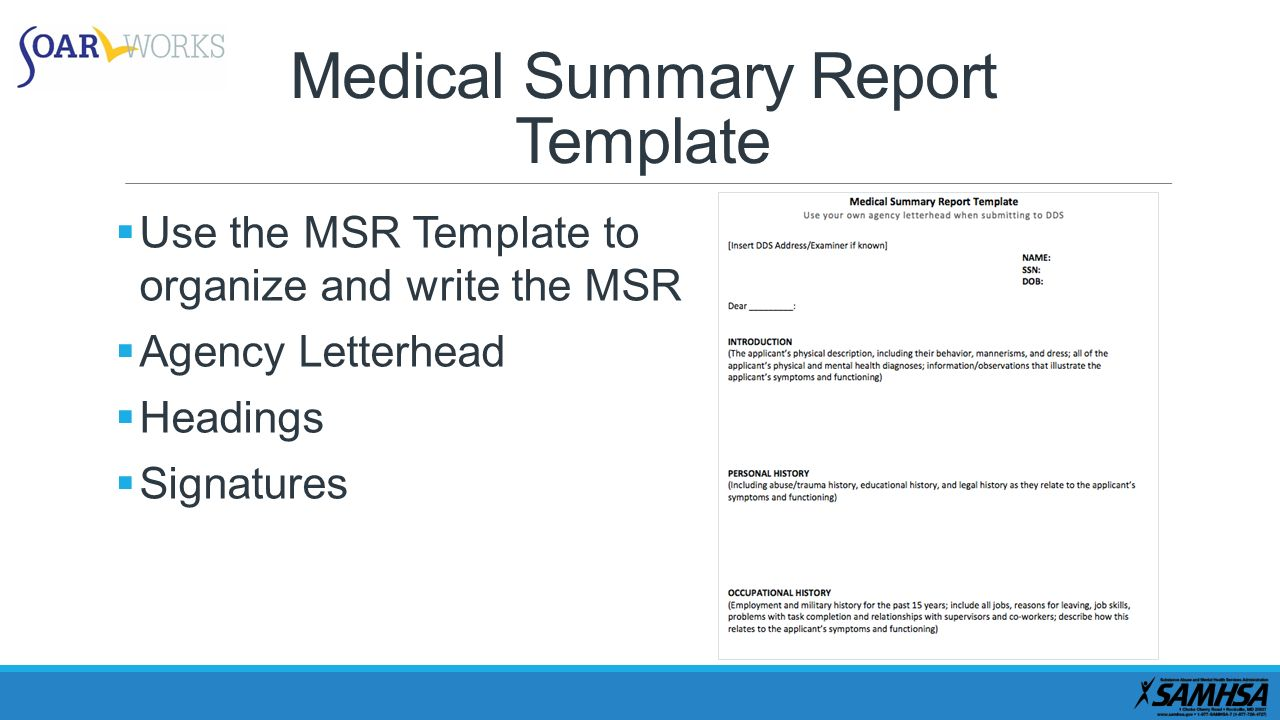 Medical summary