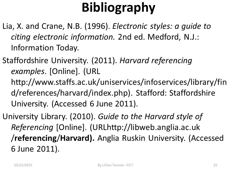 harvard citation example