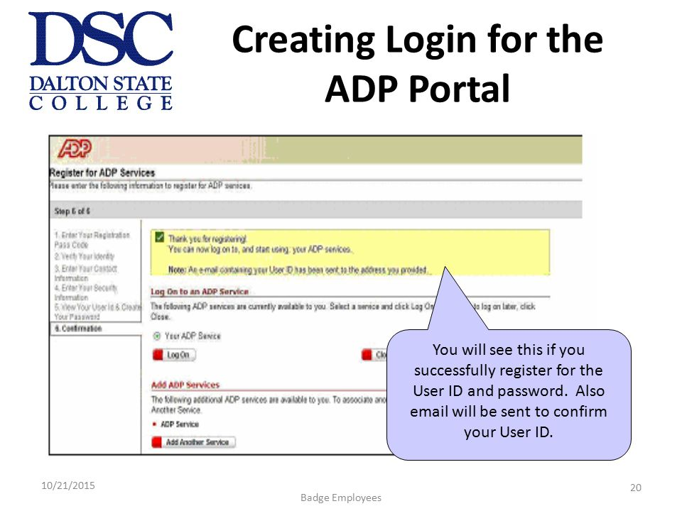 ADP Portal for Employee Self Service April – June 2009 ...