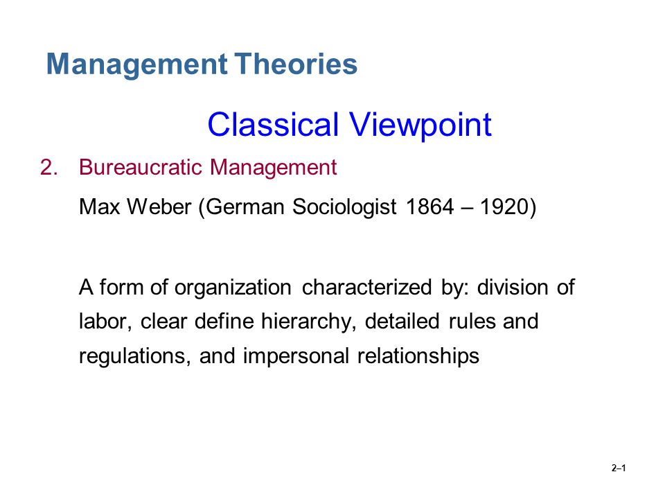 max weber six principles of bureaucracy