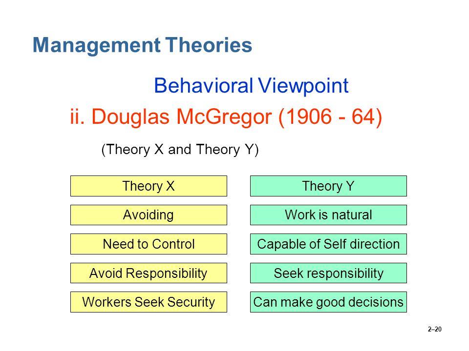 ii. Douglas McGregor (1906 - 64)