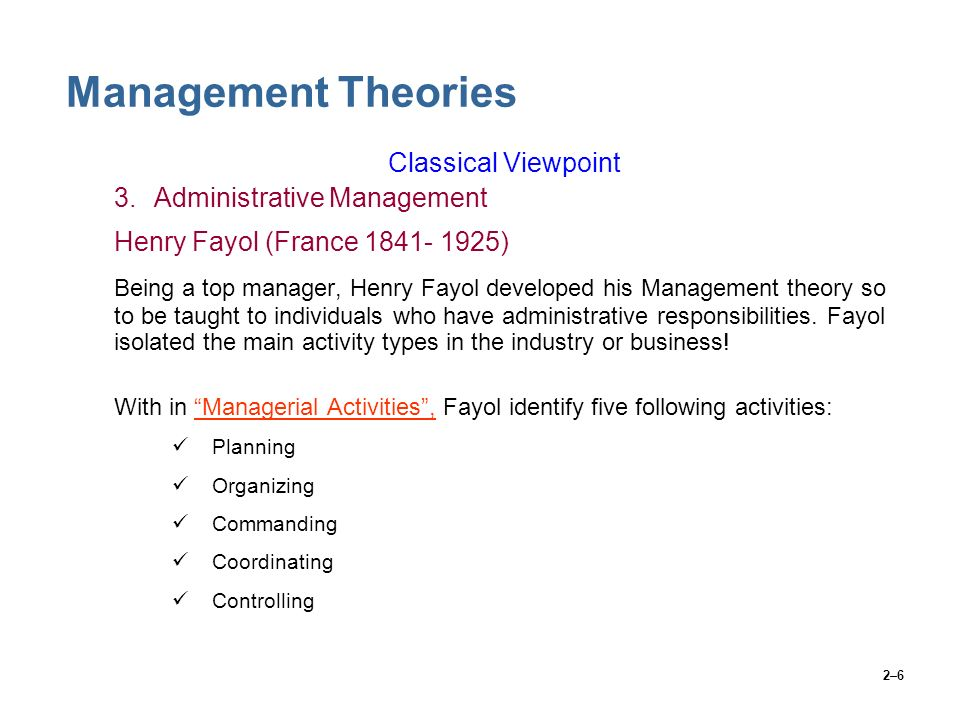 managing activities and people management theory A business management theory is akin to the general concept of management which refers to directing and controlling a group of people for the achievement of a collective objective which is.