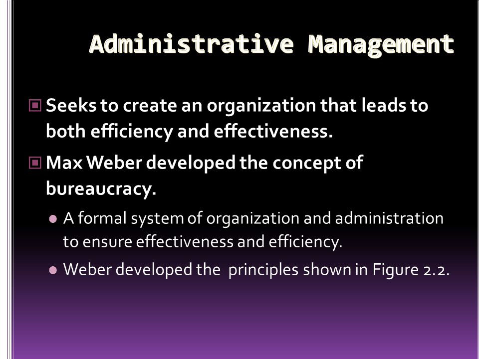 Administrative Management