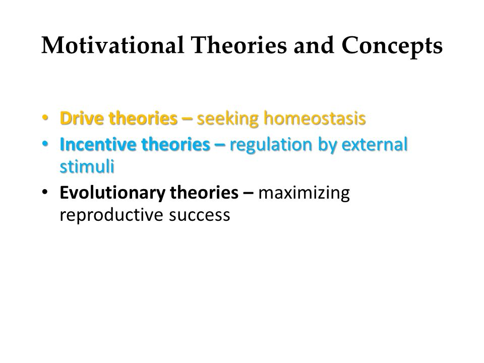 Motivation – Basic Concepts and Theories