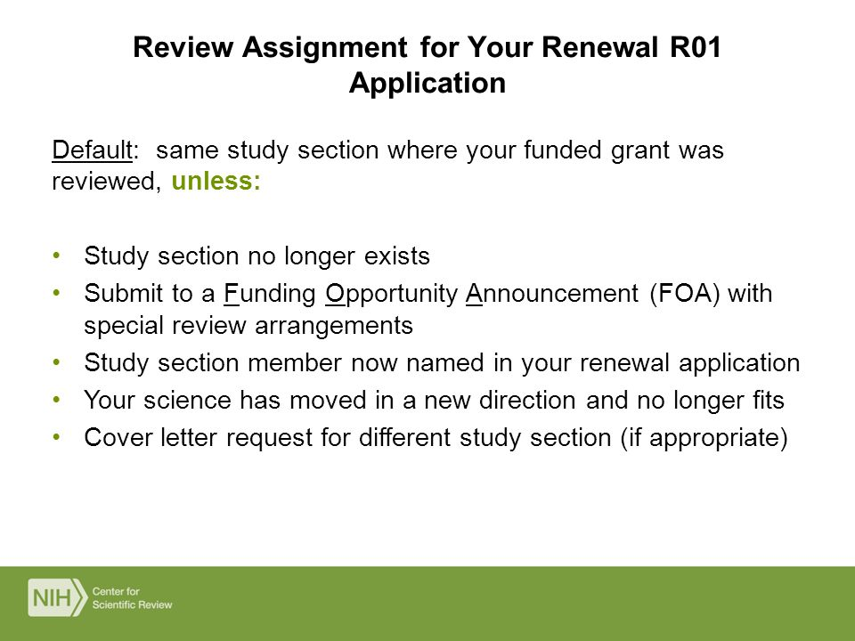nih grant submission cover letter Conference grant (r13) application procedures the conference grant (r13) pre-submission process is coordinated make such requests in the cover letter of.