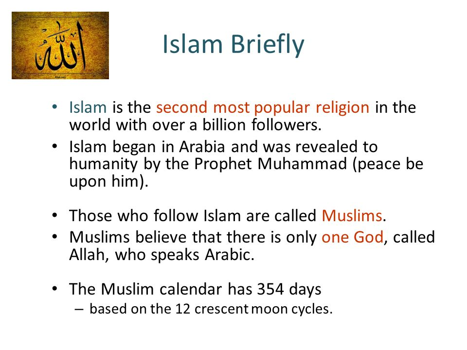 Islam Close Ties To Christianity Judaism Ppt Video Online - Second religion in the world