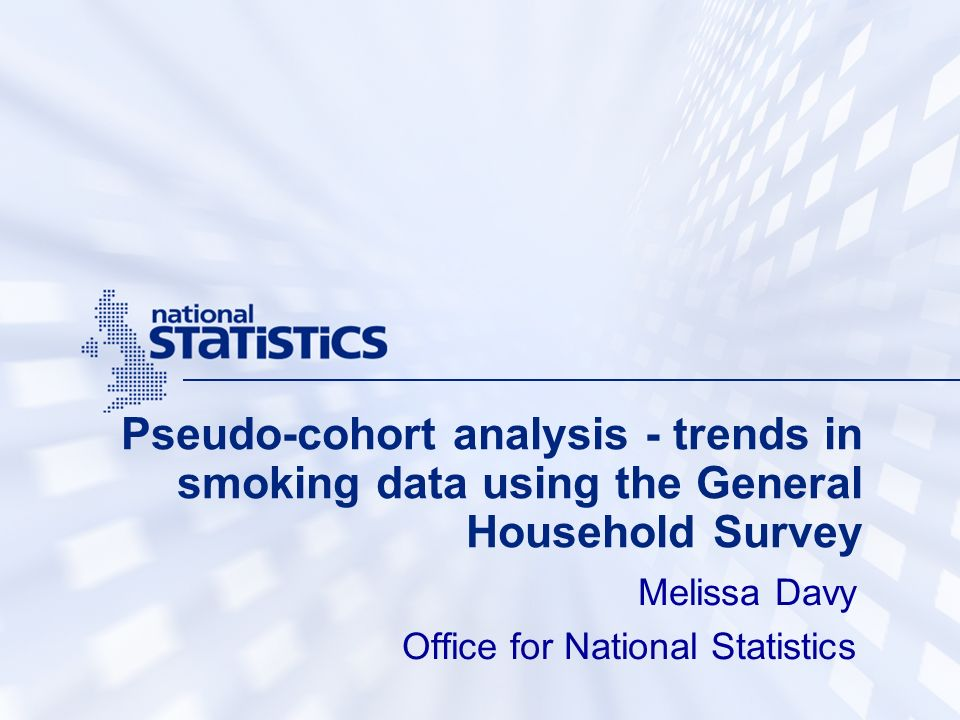 Melissa Davy Office for National Statistics