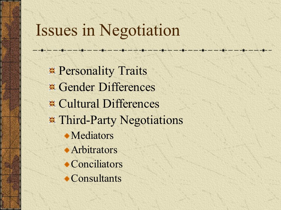 personality culture and gender in negotiation The research appears in the journal of personality the current research has uncovered a missing link in the effect of gender on negotiations arts & culture.