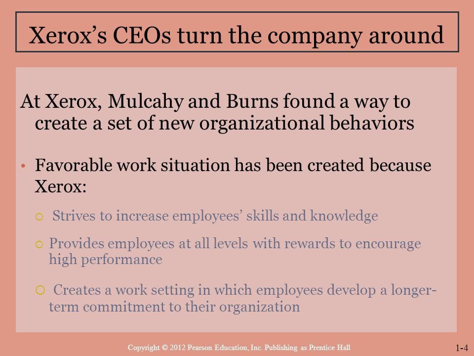 xerox corporation case study summary Executive summary: xerox corporate sustainability profile xerox corporation ranks 147th on the fortune 500 list of the largest companies in the united states scope of study.