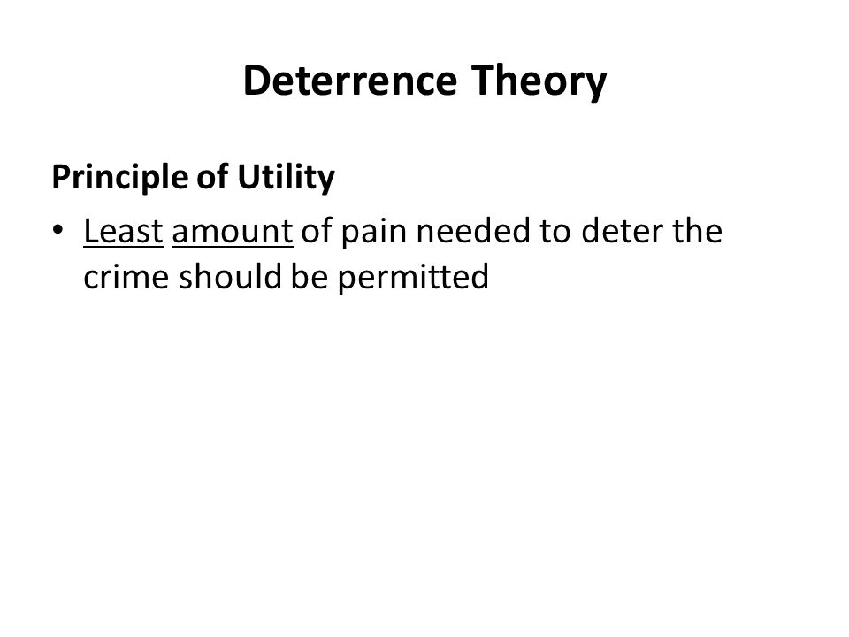 deterrence theory of crime essay This is not an example of the work written by our professional essay writers the product of rational choice motivation for crime in deterrence theory is presumed to be this quote adds to the evidence that assuming that most crime is the product of rational choice does not.