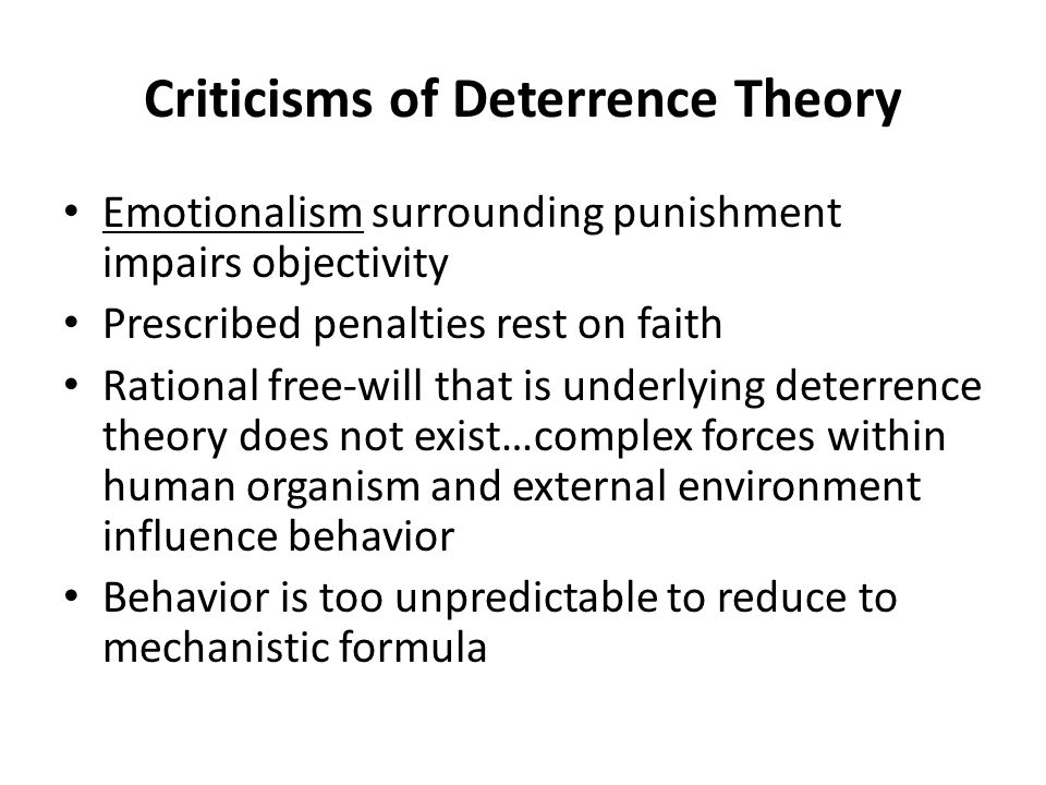an overview of the theory of sentencing rationale Deterrence in criminology: definition & theory  definition, theory & examples  history of corrections & its impact on modern concepts indeterminate criminal  sentencing: definition, purpose & advantages  that line refers to the use of  incapacitation as a form of punishment  business law: help and review.