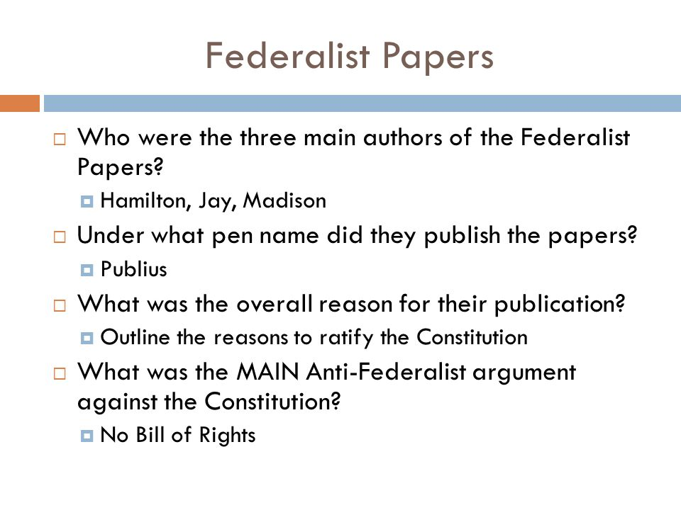 who were the three authors of the federalist papers