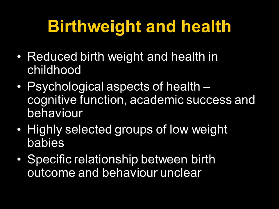 Birthweight and health