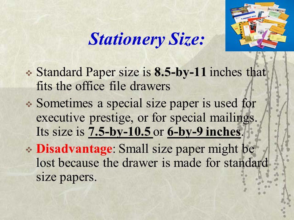 executive size stationery