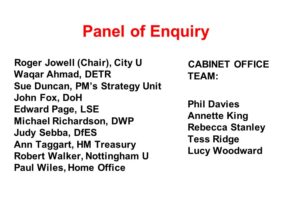 Panel of Enquiry