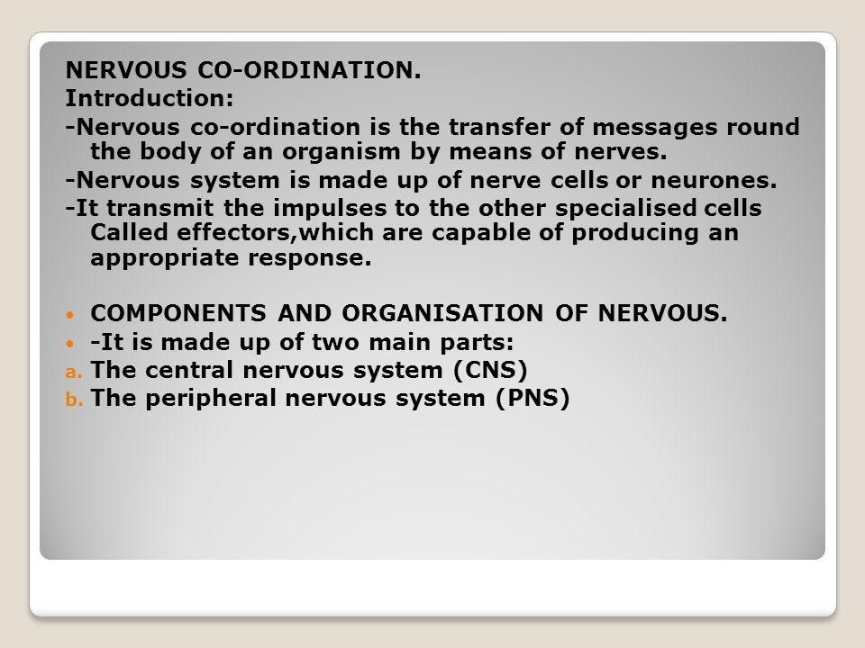 NERVOUS CO-ORDINATION.