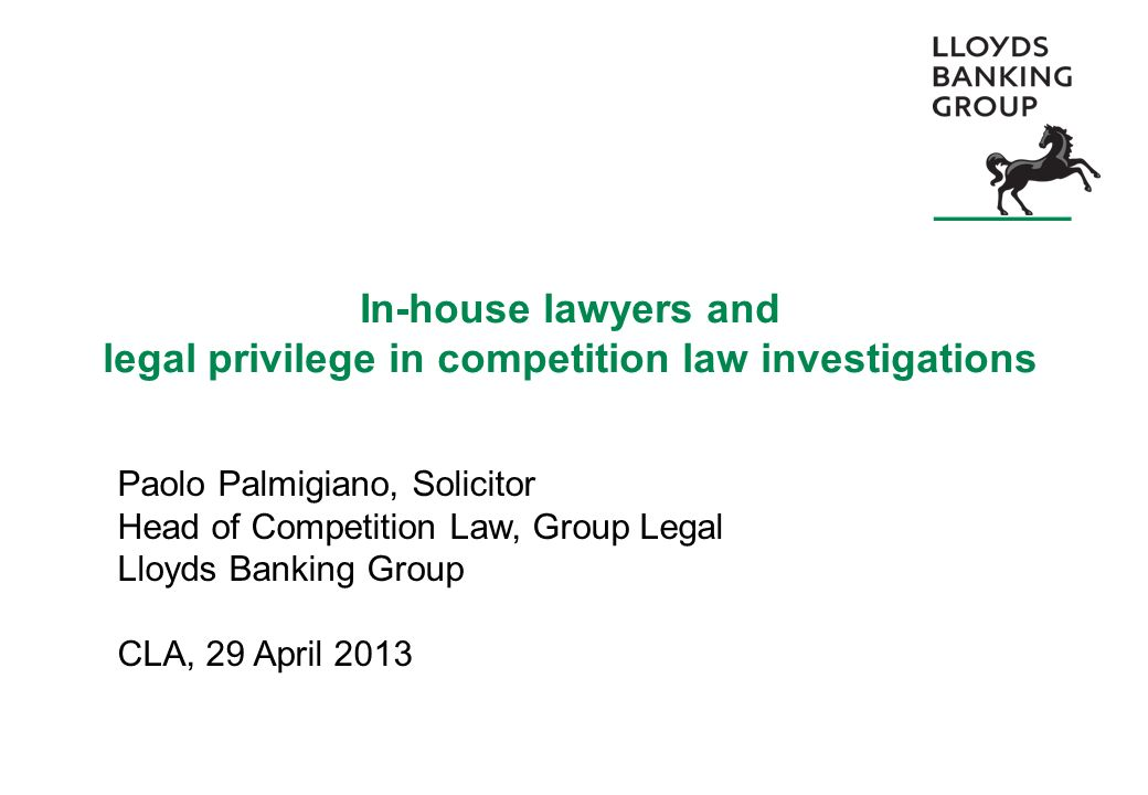 In-house lawyers and legal privilege in competition law investigations