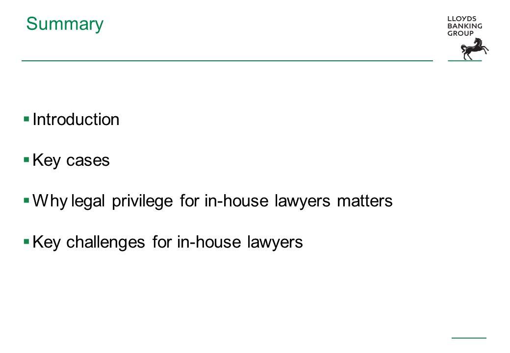 Summary Introduction Key cases