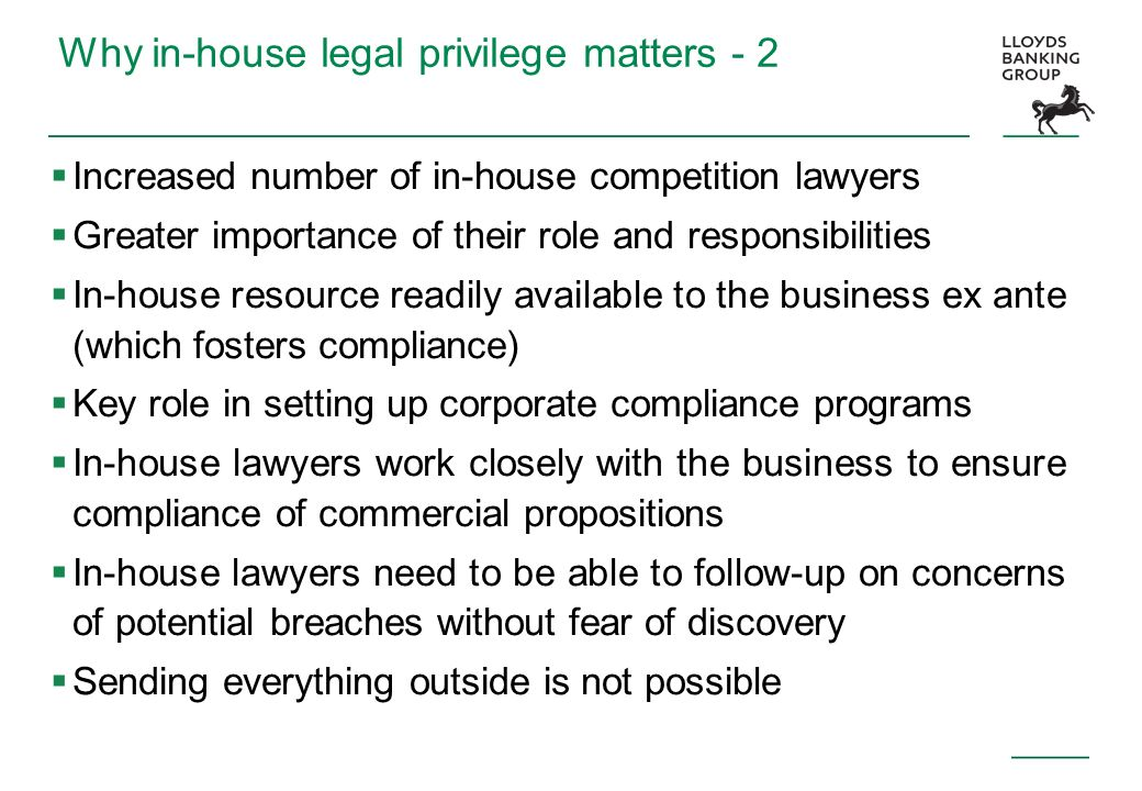 Why in-house legal privilege matters - 2