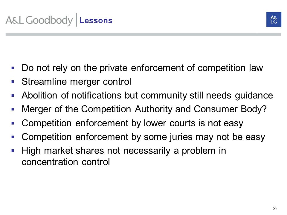 Do not rely on the private enforcement of competition law