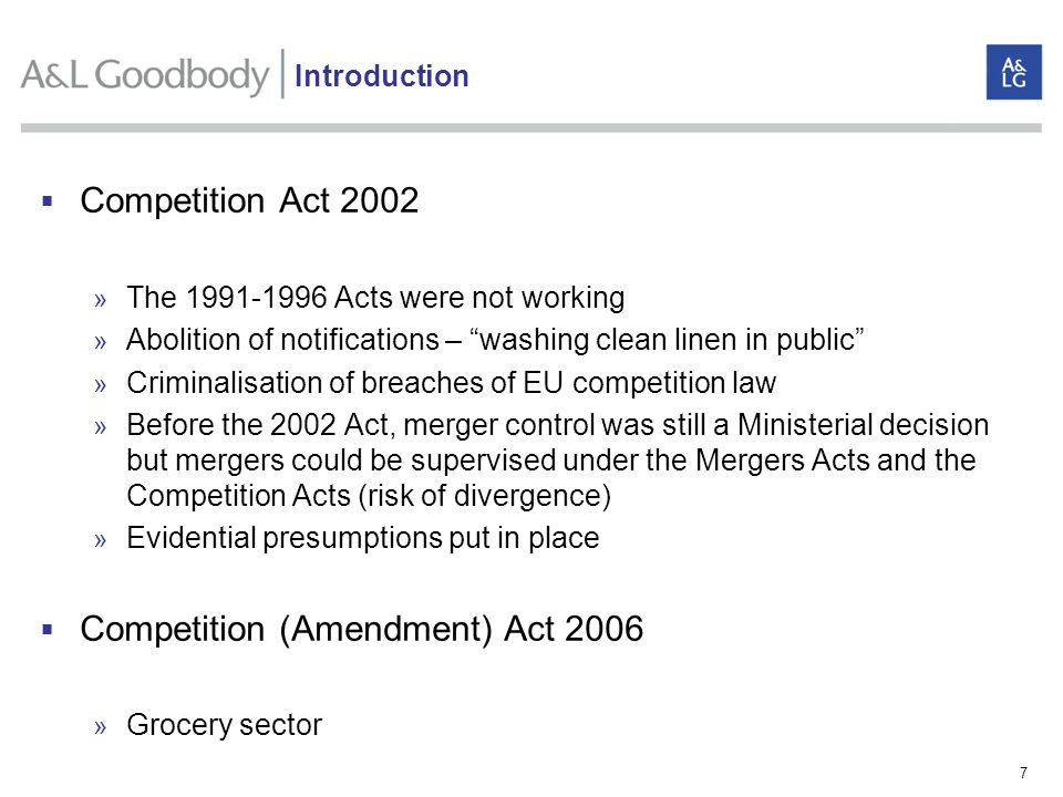Competition (Amendment) Act 2006