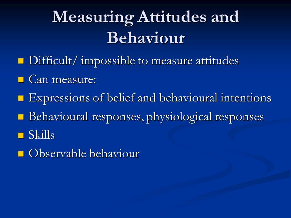 Measuring Attitudes and Behaviour