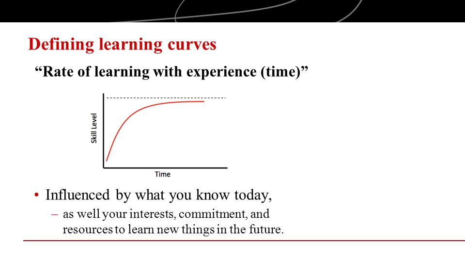 Defining learning curves