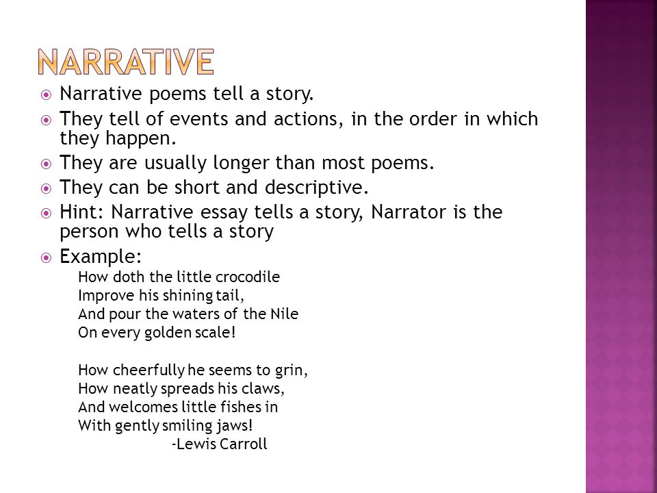 narrative and descriptive essay examples