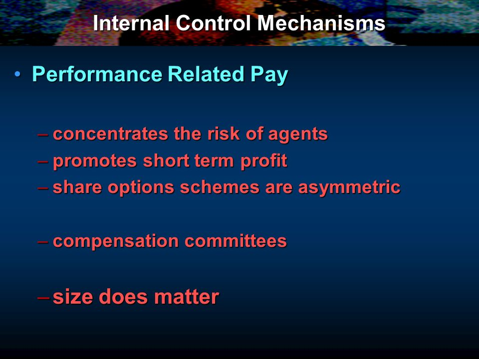 Internal Control Mechanisms