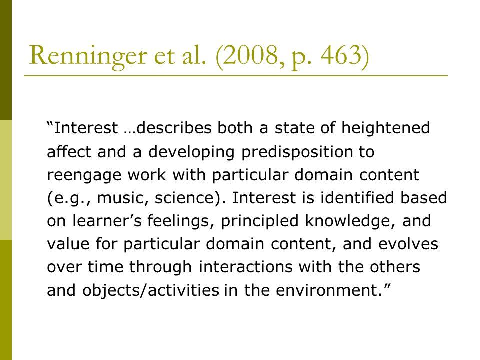 Renninger et al. (2008, p. 463)